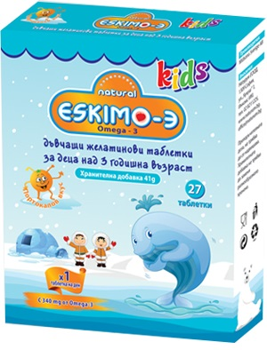 Eskimo-3 Kids chewable, 27 дъвчащи таблетки